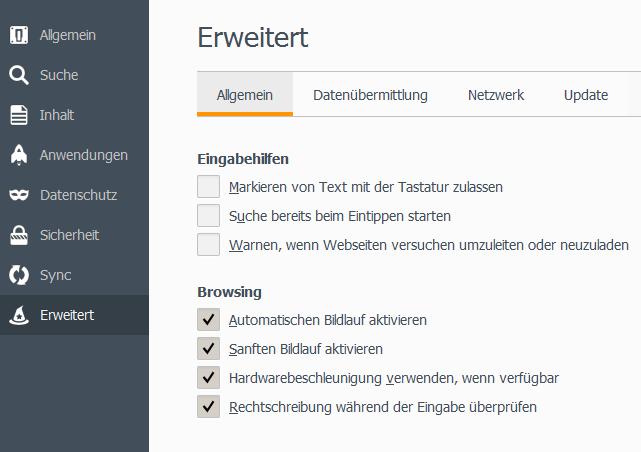 Firefox Einstellungen