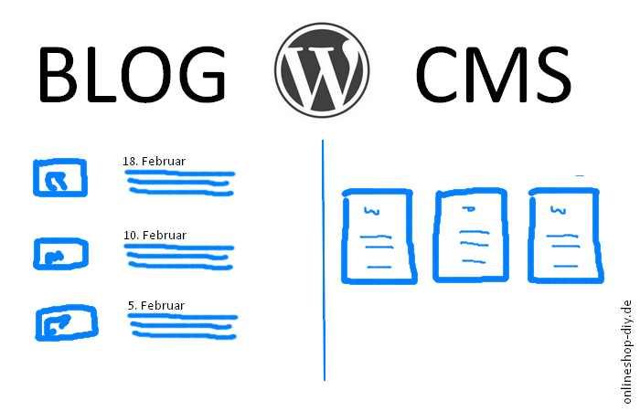 Links ein Blog, rechts ein CMS