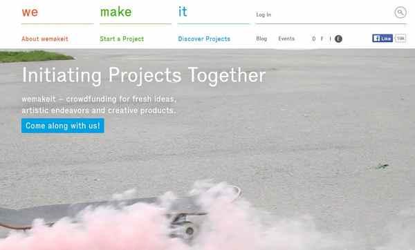 Crowdfunding-Plattform Wemakeit