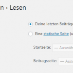Statische Startseite in WordPress einstellen