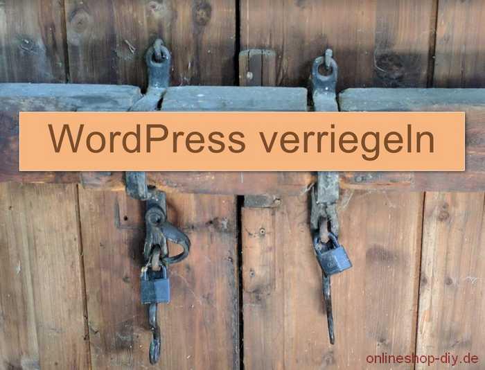 WordPress Registrierung deaktivieren