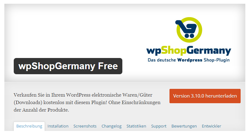 Shop-Plugin wpShopGermany Free