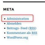WordPress-Security (4): Meta-Widget entfernen