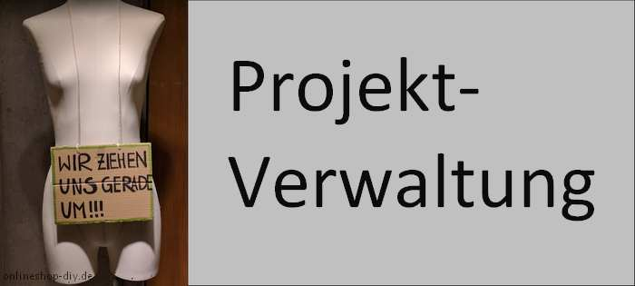 Projektverwaltung-Bild mit Schaufensterpuppe