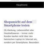 Shopansicht auf dem Smartphone testen