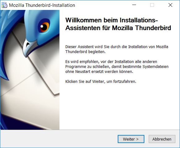 Thunderbird Installation
