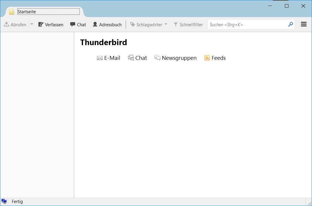 Konto in Thunderbird einrichten