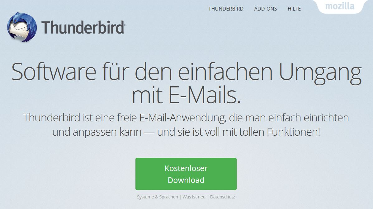 Thunderbird statt Outlook