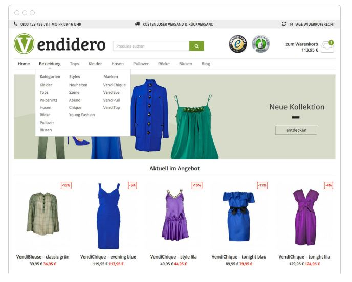 Das WooCommerce-Theme Vendidero