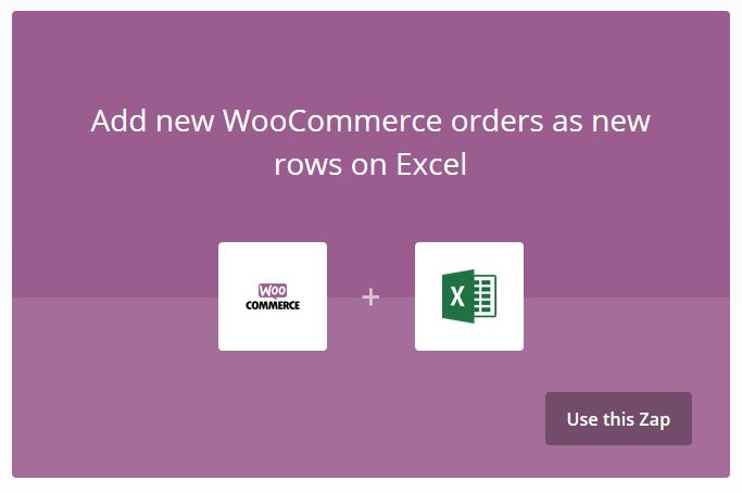 WooCommerce plus Excel