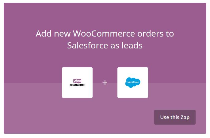 WooCommerce plus Salesforce