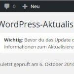 Wordpress-Security (3): WordPress aktualisieren