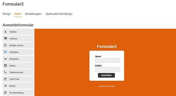 CleverReach Formluardesigner