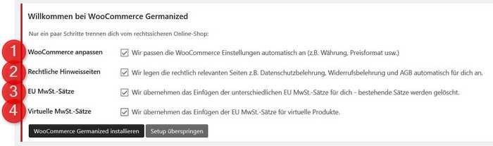 WooCommerce Germanized Setup
