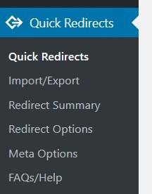 Redirect anlegen