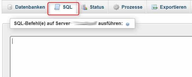 SQL-Befehl eingeben