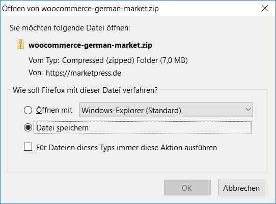 WooCommerce German Market Download