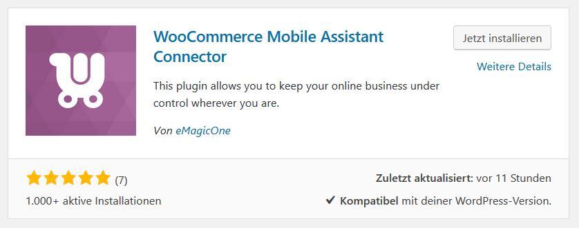 WooCommerce mit dem Smartphone adminstrieren