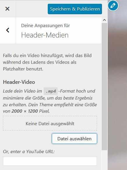 WordPress Videoheader