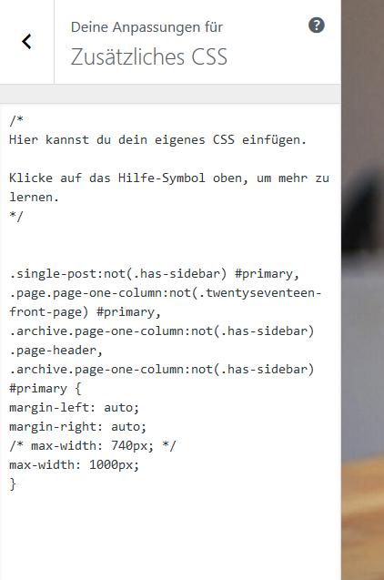 Zusätzliches CSS