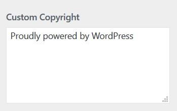 Copyrighthinweis ändern