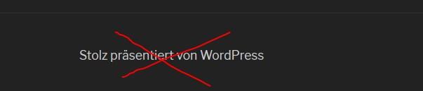 Stolz präsentiert von WordPress