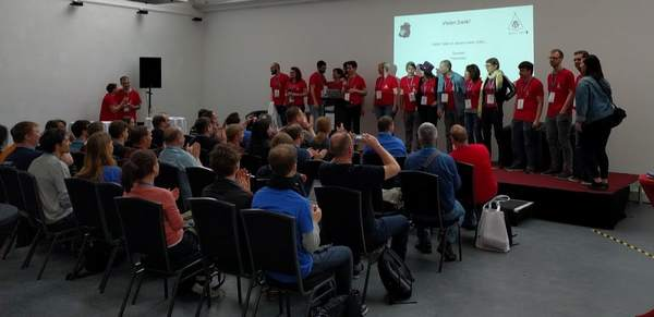 Podium des WordCamps Berlin