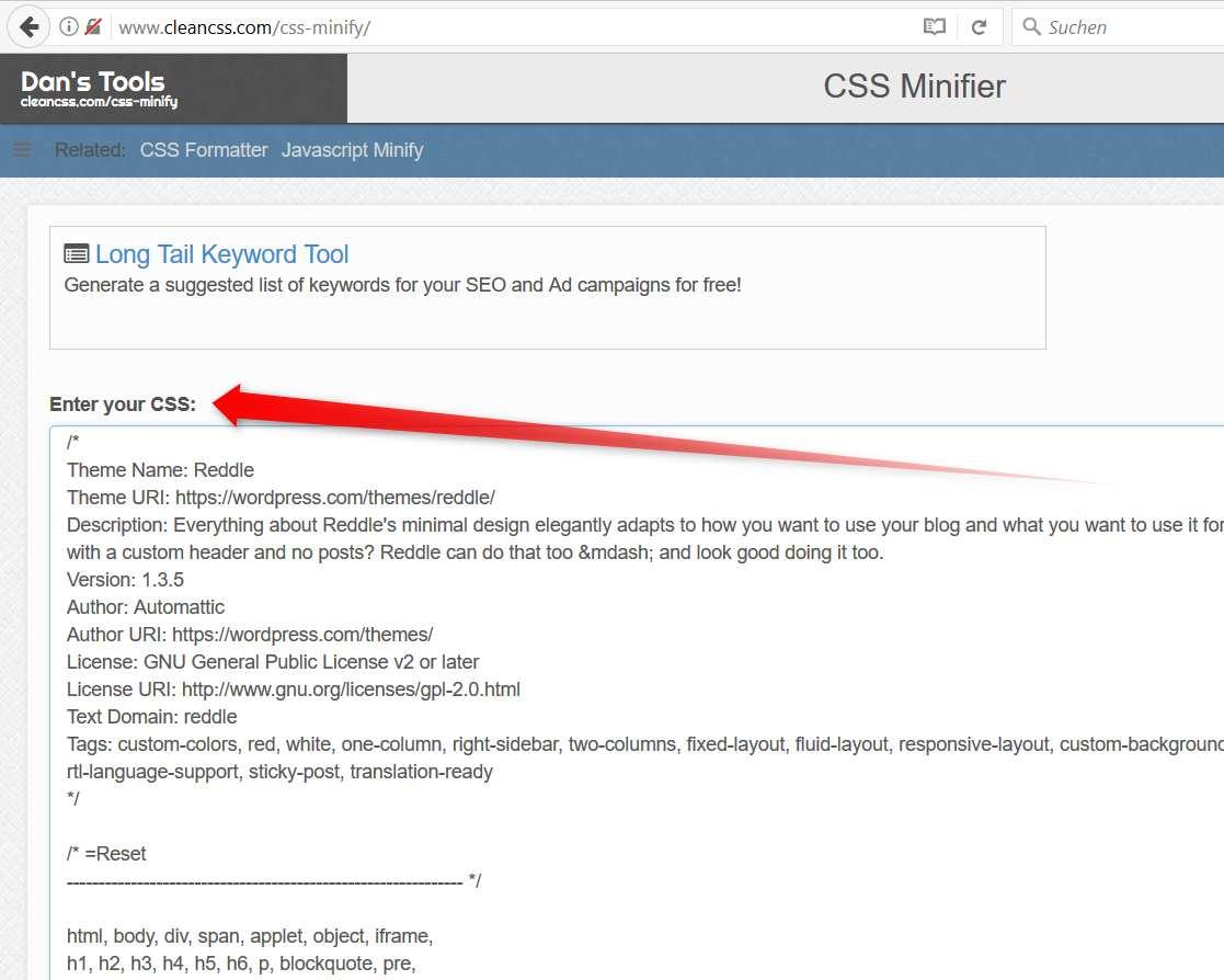 CSS Minimizer