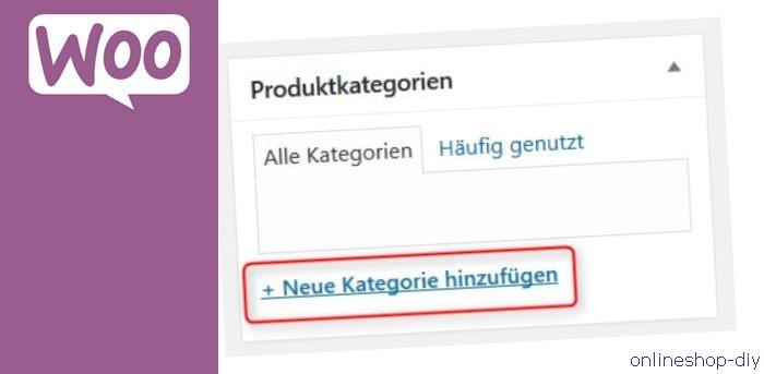 Produktkategorie hinzufügen