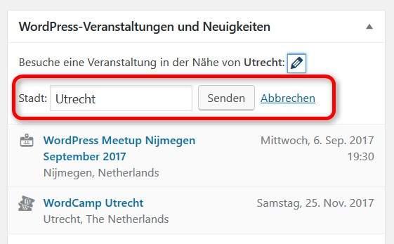 Meetup-Suche