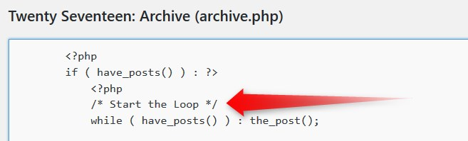 Loop in archive.php