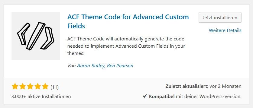 ACF Theme Code