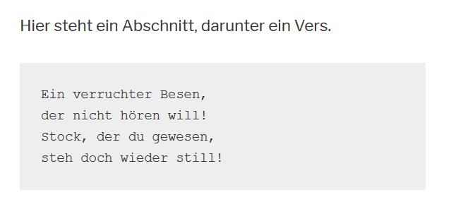 Zauberlehrling im Gutenberg-Editor