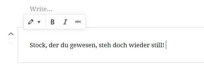 Verse in Gutenberg