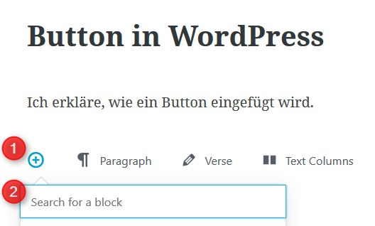 Blöcke im Gutenberg-Editor