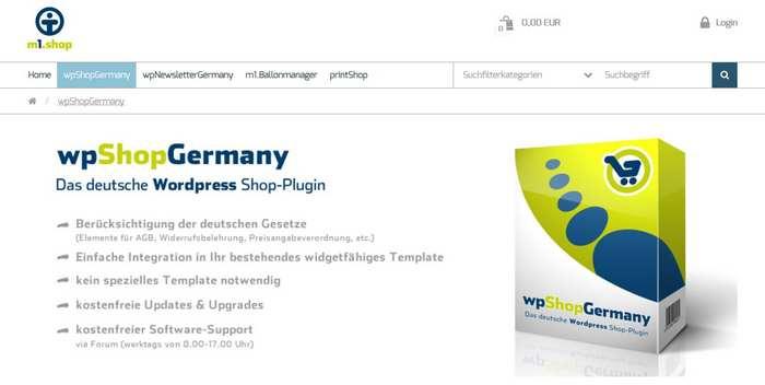 ShopThemeOnme heißt das eigene Theme von wpShopGermany