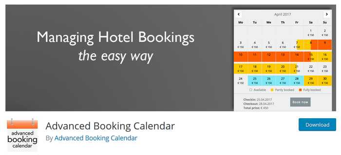 Das Plugin Advanced Booking Calendar