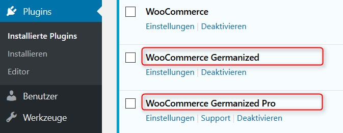 WooCommerce Germanized Free