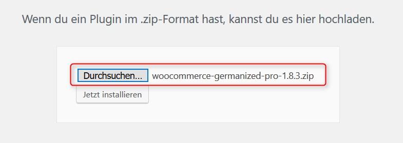 Germanized auswählen