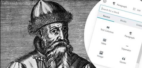 Mit Gutenberg kommen die Gutenblocks