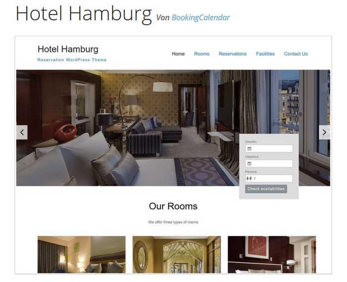 WordPress-Theme Hotel Hamburg