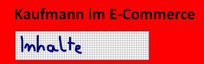 Kaufmann im E-Commerce Lehrplan