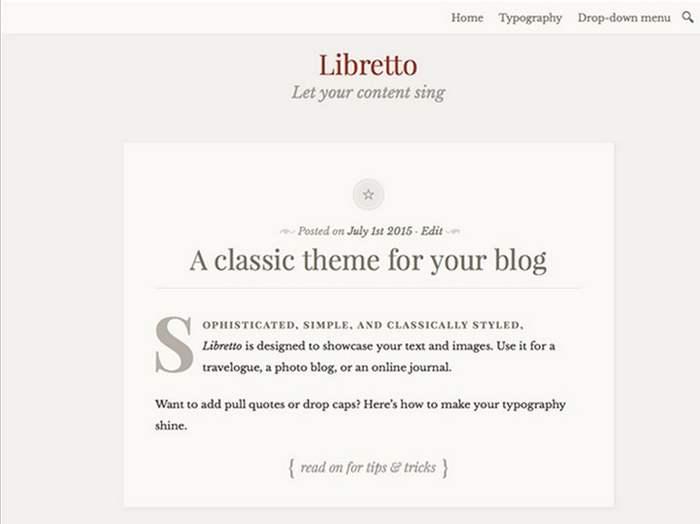 Das kostenlose Libretto-Theme