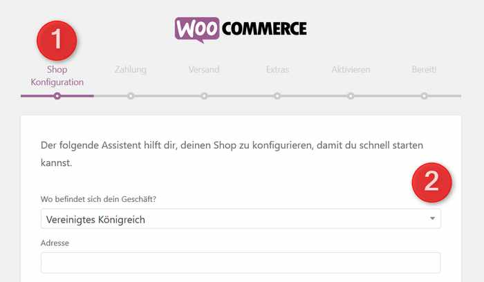 WooCommerce Konfiguration