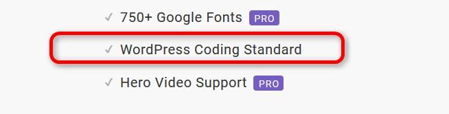 Hinweis auf den WordPress-Coding-Standard