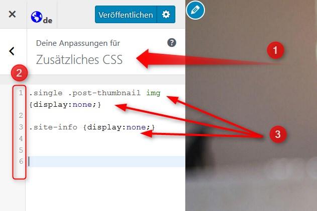 CSS-Box im WordPress-Customizer