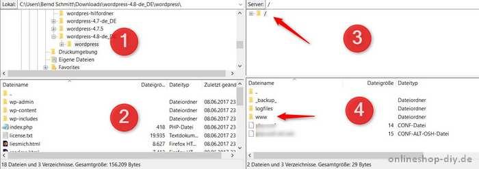 FileZilla Navigation