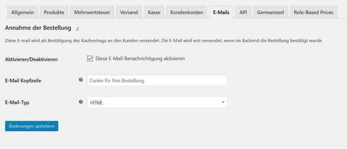 Automatisch versendete E-Mails auf Sie