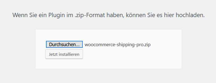Table Rate Shipping Pro installieren