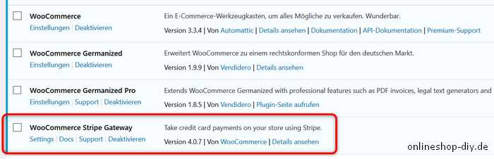 Stripe WooCommerce Plugin